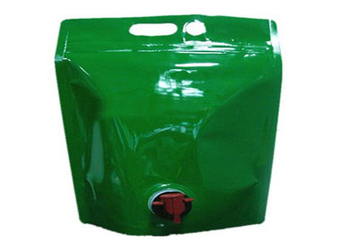 Stand Up Plastic Drink Bags , Customed Printed Liquid Spout Bags With Gas Check